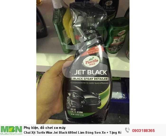 Chai Xịt Turtle Wax Jet Black 680ml Làm Bóng Sơn Xe + Tặng Kèm Khăn T319 2