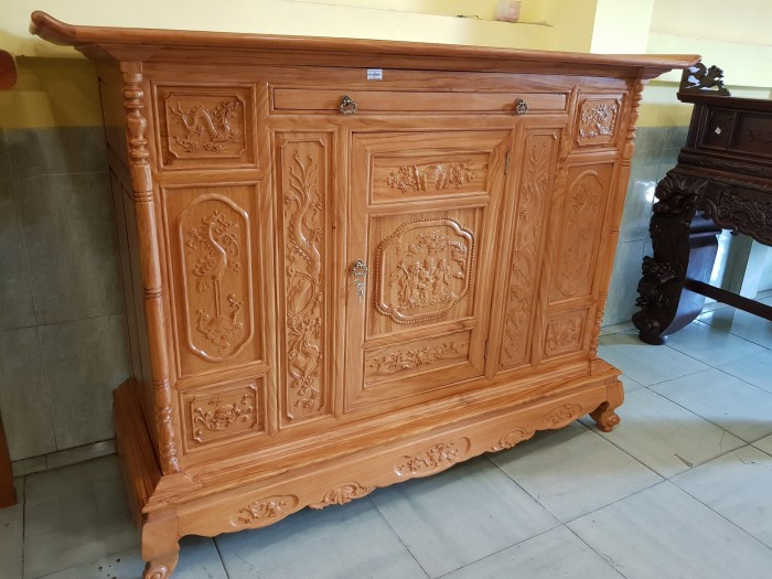 Tủ thờ Tam Đa lắp ráp Gõ Đỏ sang trong Đồ gỗ Sơn Đông6