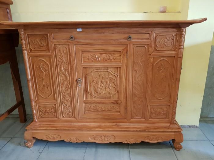 Tủ thờ Tam Đa lắp ráp Gõ Đỏ sang trong Đồ gỗ Sơn Đông5