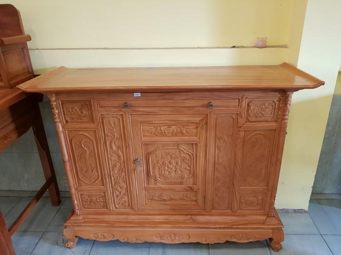 Tủ thờ Tam Đa lắp ráp Gõ Đỏ sang trong Đồ gỗ Sơn Đông1
