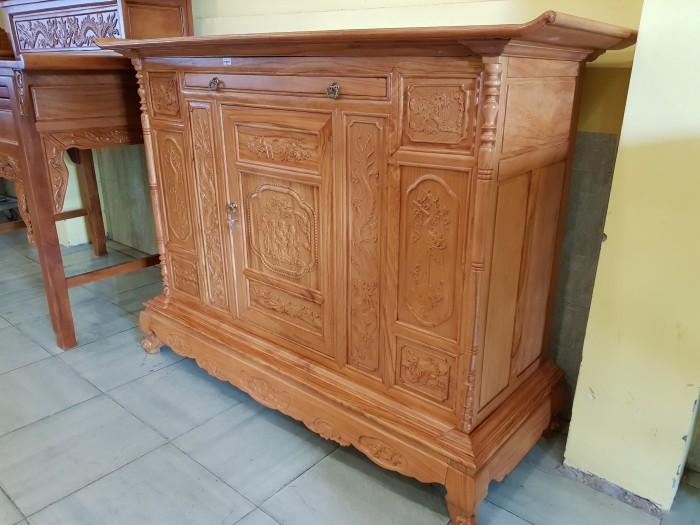 Tủ thờ Tam Đa lắp ráp Gõ Đỏ sang trong Đồ gỗ Sơn Đông2
