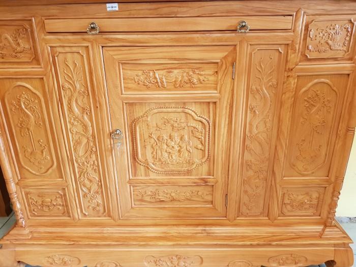 Tủ thờ Tam Đa lắp ráp Gõ Đỏ sang trong Đồ gỗ Sơn Đông0