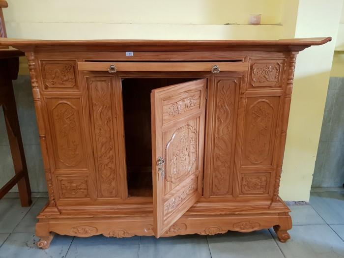 Tủ thờ Tam Đa lắp ráp Gõ Đỏ sang trong Đồ gỗ Sơn Đông4