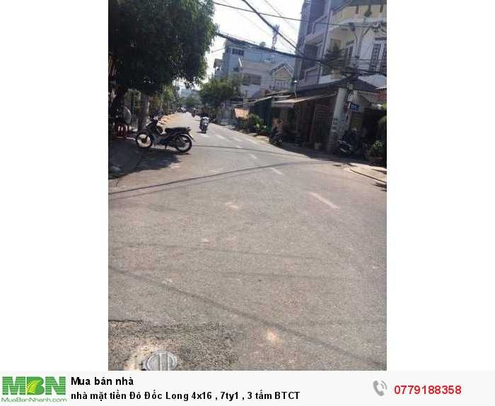 Nhà mặt tiền Đô Đốc Long 4x16, 7ty1, 3 tấm BTCT