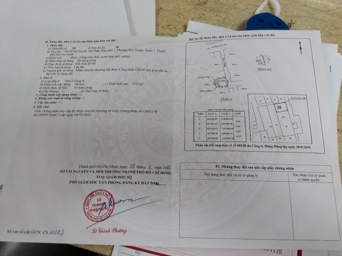 Bán nhà hẻm 719/28/3B Huỳnh Tấn Phát, 6x8m