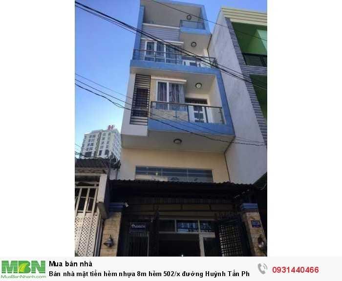 Bán nhà mặt tiền hẻm nhựa 8m hẻm 502/x  đường Huỳnh Tấn Phát P. Bình Thuận Quận 7