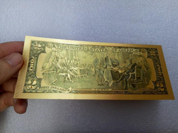 Tiền 2 usd mạ vàng plastic, series 686868885