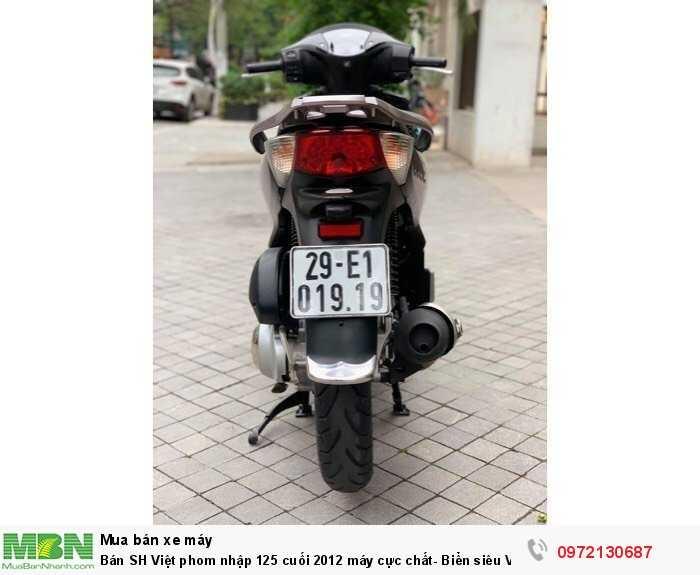 Bán SH Việt phom nhập 125 cuối 2012 máy cực chất- Biển siêu Vip