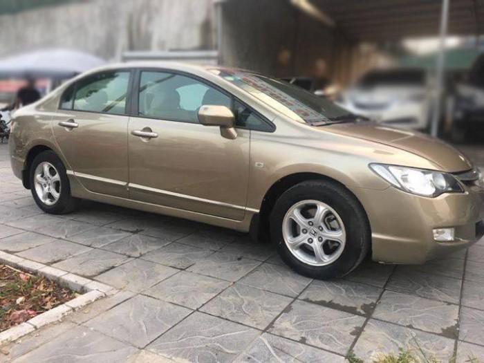 Cần bán Honda Civic 2009 số tự động màu vàng cát, chính chủ bstp bao đẹp