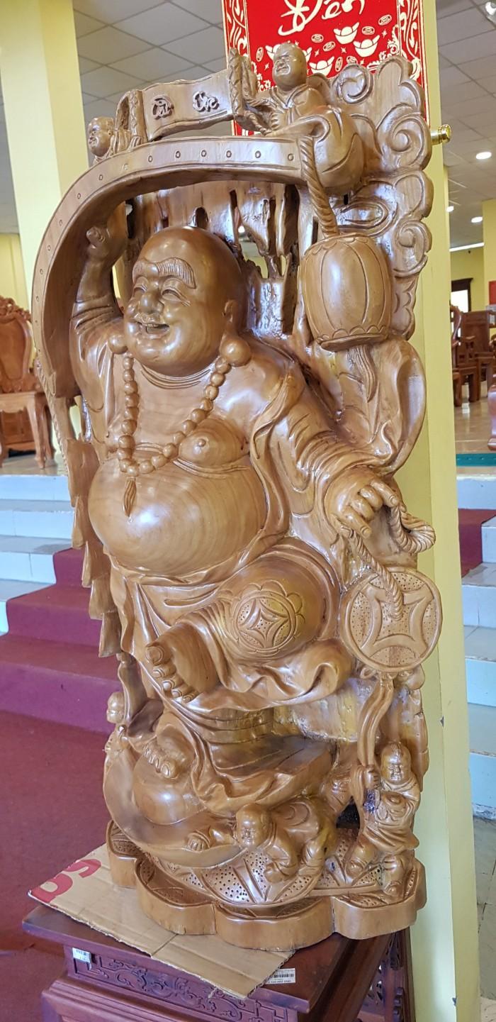 Tượng Phật Di Lặc gậy như ý cao 1m024