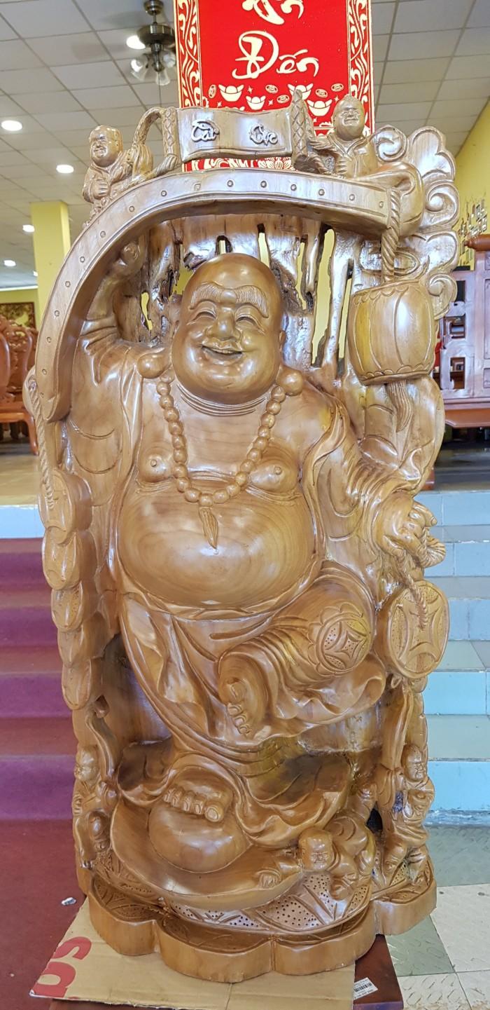 Tượng Phật Di Lặc gậy như ý cao 1m022