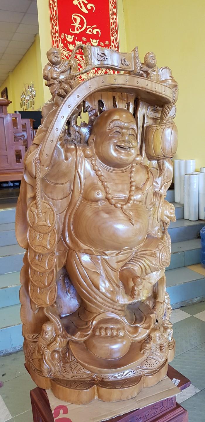 Tượng Phật Di Lặc gậy như ý cao 1m023