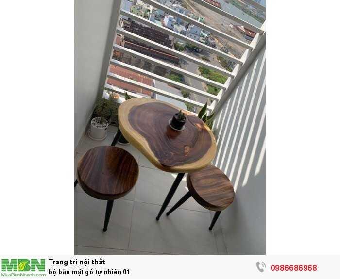 Bộ bàn mặt gỗ tự nhiên 01
