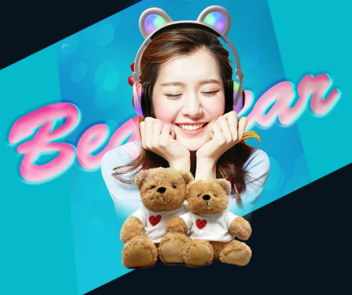 Tai Nghe Gấu Cute Có Đèn Led (Cực Hot)4