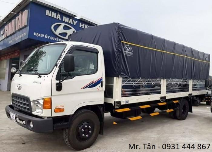 Hyundai HD120SL thùng mui bạt tải trọng 8,1 tấn, thùng dài 6m3, hỗ trợ trả góp lên đến 85%, lãi suất thấp