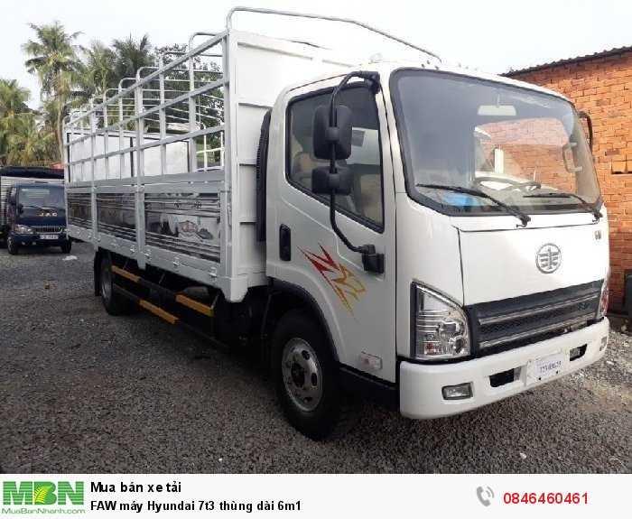 FAW máy Hyundai 7t3 thùng dài 6m1 0