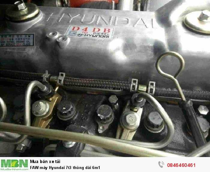 FAW máy Hyundai 7t3 thùng dài 6m1 2