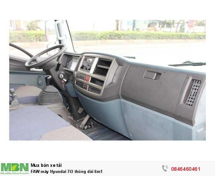 FAW máy Hyundai 7t3 thùng dài 6m1 3