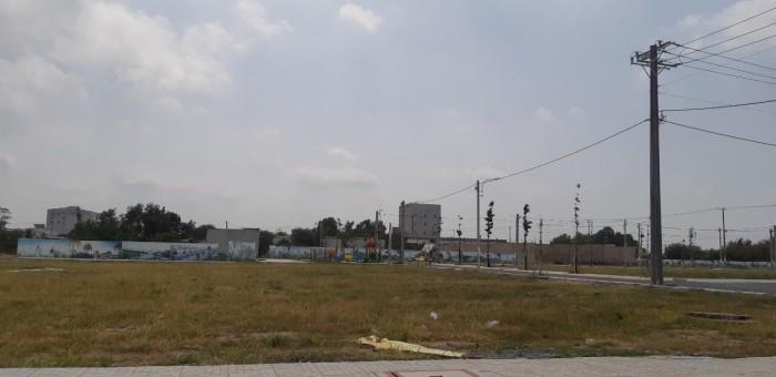 Bán đất khu công nghiệp Lê Minh Xuân, sổ hồng riêng tầng nền