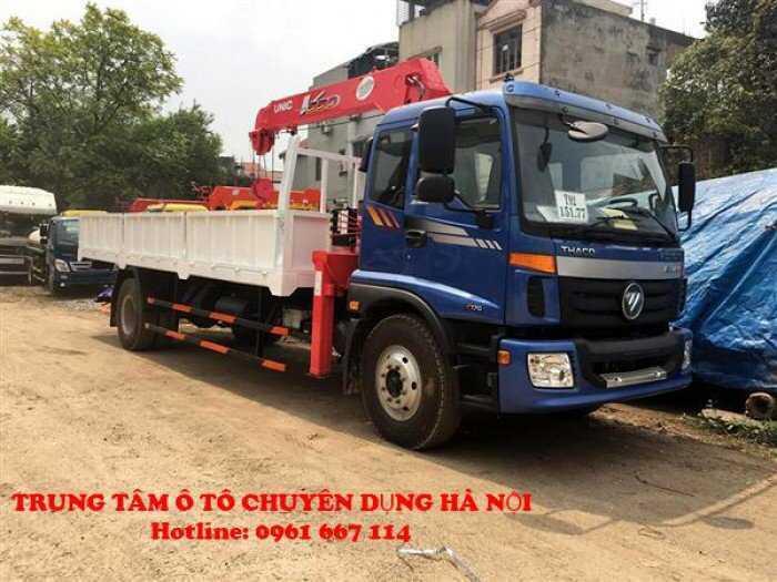 Xe tải 9 tấn Thaco AUMAN C160.C170 gắn cẩu UNIC model URV555 ( 5 tấn 5 đốt )|Trả trước từ 300tr giao xe ngay