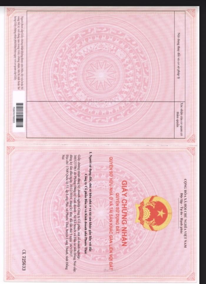Nhà 1 Trệt 2 Lầu Mặt Tiền Quốc Lộ 51, ngay Ngã 3 Thái Lan, Sổ Hồng