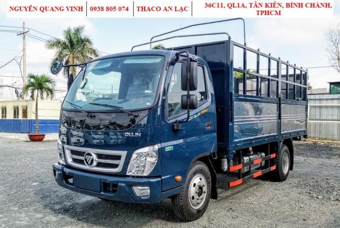 Xe Tải 2,4 Tấn - Động Cơ Isuzu - Thaco Ollin350 E4 - Thùng 4m4 - Hổ Trợ Trả Góp