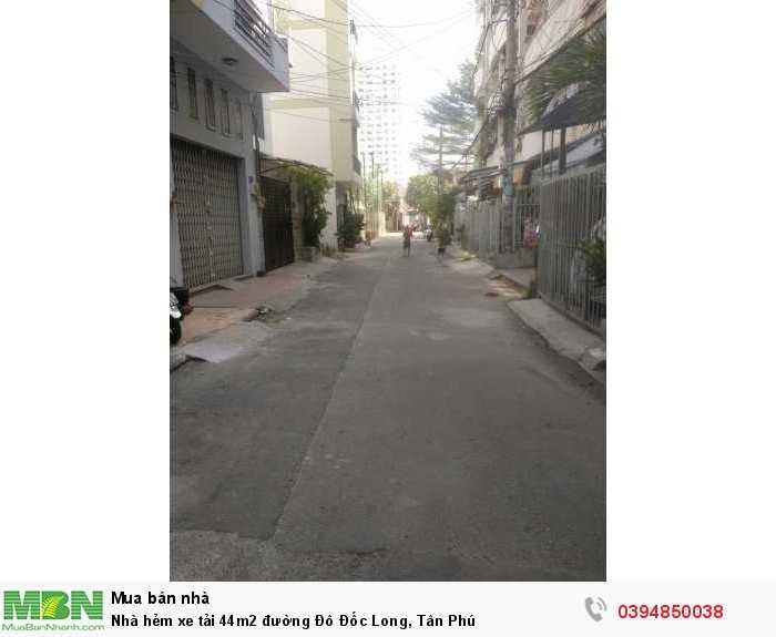 Nhà hẻm xe tải 44m2 đường Đô Đốc Long, Tân Phú