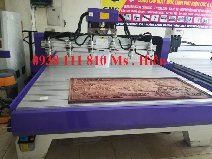 Máy CNC 6 đầu đục tranh, đồ gỗ mỹ nghệ chuẩn0
