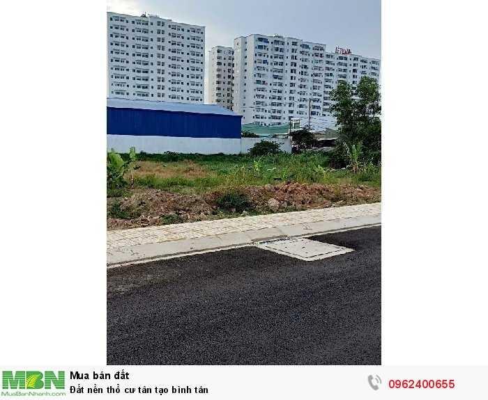 Đất nền thổ cư tân tạo Bình Tân