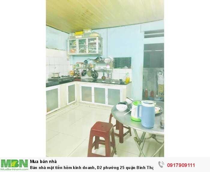 Bán nhà mặt tiền hẻm kinh doanh, D2 phường 25 quận Bình Thạnh, 85 m2