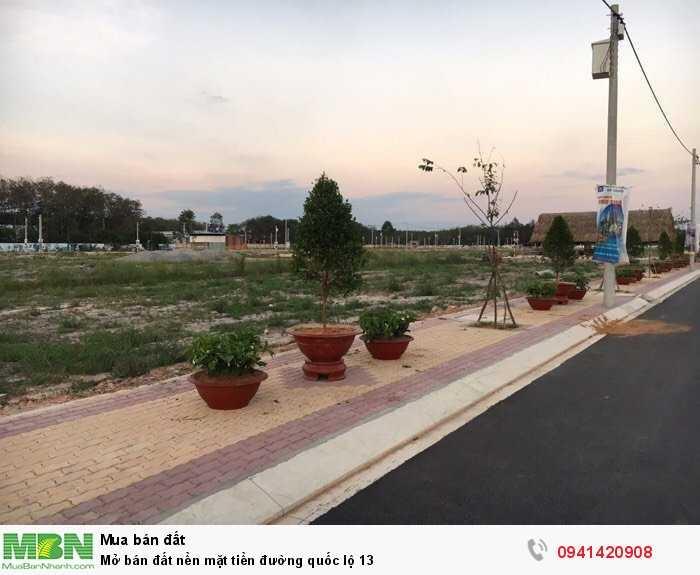 Mở bán đất nền mặt tiền đường quốc lộ 13