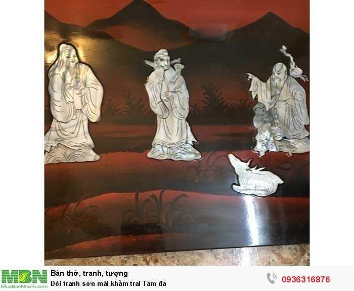 Đôi tranh sơn mài khảm trai Tam đa4