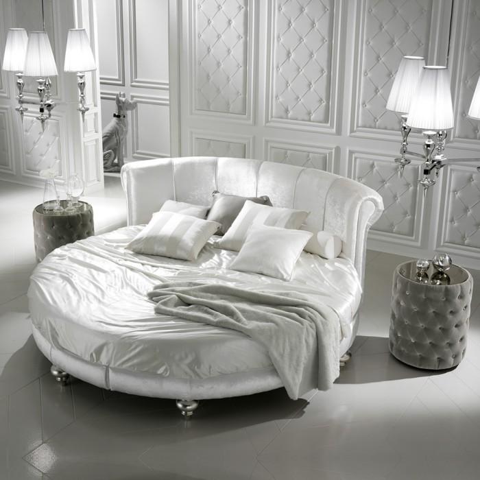 giường ngủ hình tròn màu trắng7
