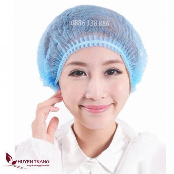 Mũ giấy y tế màu xanh 100 cái4
