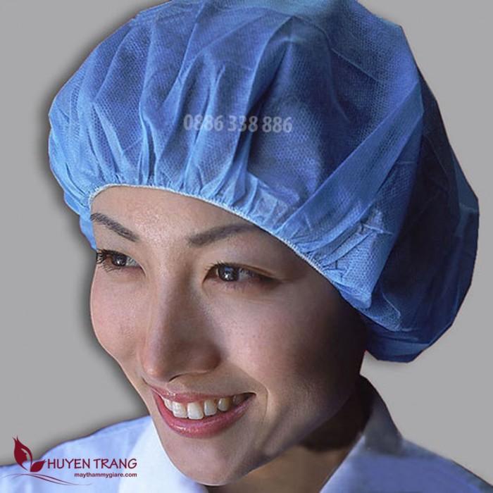 Mũ giấy y tế màu xanh 100 cái3