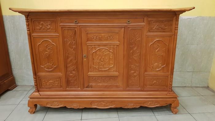 Tủ thờ tam đa lắp ráp gỗ gõ đỏ1