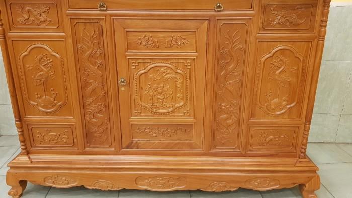 Tủ thờ tam đa lắp ráp gỗ gõ đỏ0