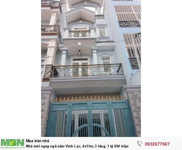 Nhà mới ngay ngã năm Vĩnh Lộc, 4x11m, 3 tầng