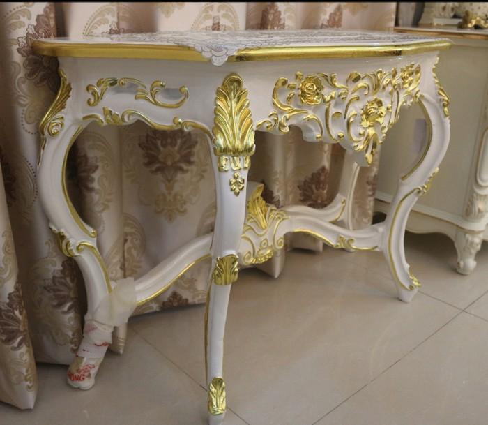 bàn trang trí tân cổ điển màu trắng đẹp5
