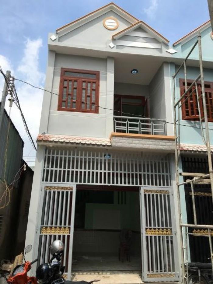 Nhà mới xây 1 trệt 1 lầu, sổ hồng riêng Cần Giuộc, Long An