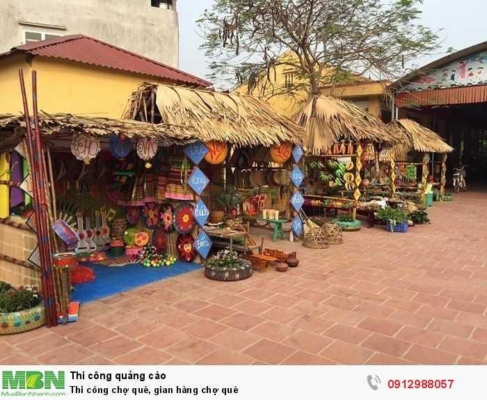 Thi công gian hàng chợ quê