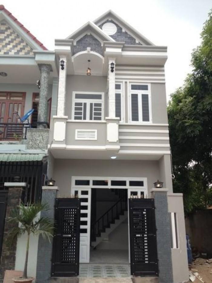 Nhà mới xây 1 trệt 1 lầu, sổ hồng riêng Cần Giuộc Long An