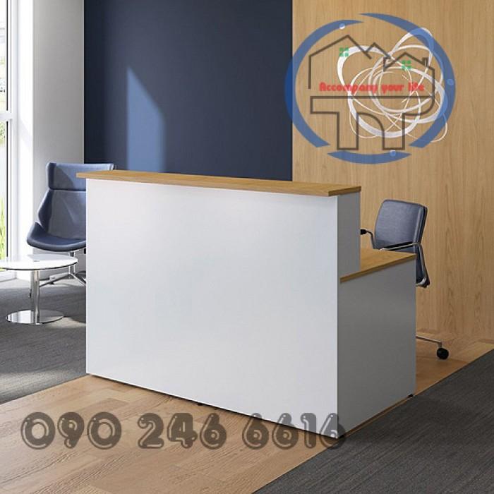 Quầy lễ tân thông dụng dành cho văn phòng giá rẻ5