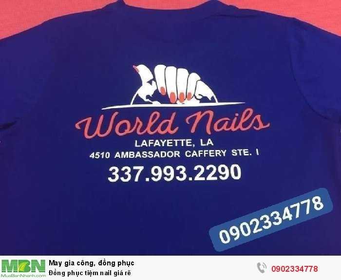 Đồng phục tiệm nail giá rẽ