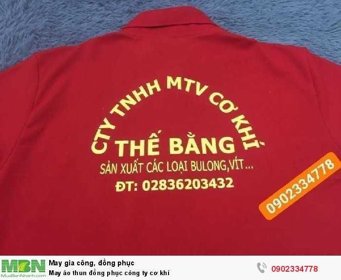 May áo thun đồng phục công ty cơ khí
