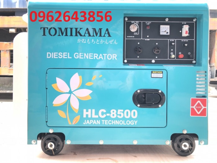 Bán máy phát điện chạy dầu chống ồn Tomikama 5kw, 7kw3
