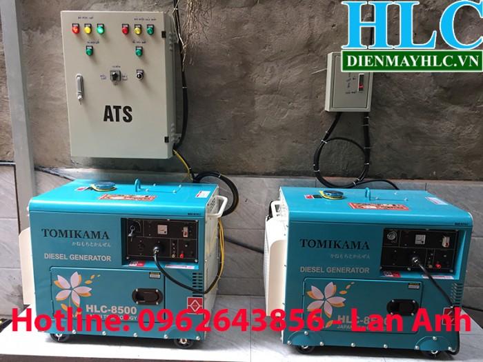 Bán máy phát điện chạy dầu chống ồn Tomikama 5kw, 7kw0
