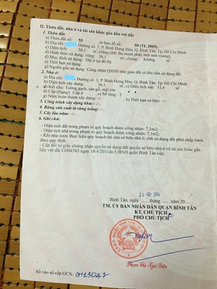 Cc cần bán gấp nhà hẻm đường số 3, BHHA, Bình Tân.