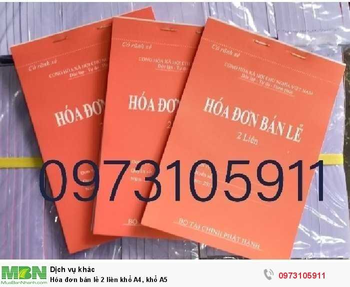 Quyển hóa đơn bán lẻ 2 liên khổ A5 giấy cacbon đẹp loại dày 100 tờ chia 2 liên, ưu điểm khi viết không cần kê giấy than0