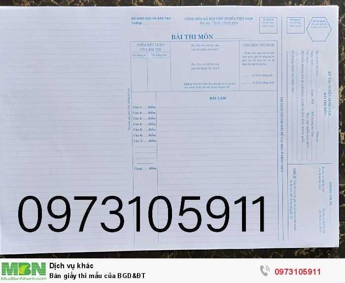 1,000 tờ giấy thi mẫu của BGD&ĐT0